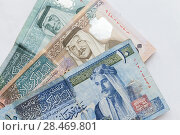 Купить «Jordanian dinars, banknotes», фото № 28469801, снято 19 мая 2018 г. (c) EugeneSergeev / Фотобанк Лори
