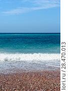 Купить «Beautiful seascape of the Adriatic Sea», фото № 28470013, снято 12 августа 2017 г. (c) Алексей Голованов / Фотобанк Лори