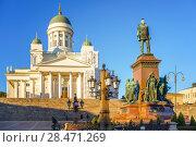 Купить «Cathedral in Helsinki, Finland», фото № 28471269, снято 10 октября 2015 г. (c) Sergey Borisov / Фотобанк Лори