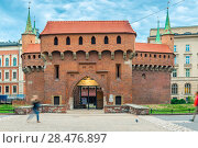 Купить «Brick fortification in the center of Krakow, Poland», фото № 28476897, снято 13 августа 2017 г. (c) Константин Лабунский / Фотобанк Лори