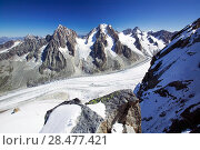 Купить «The Mer Du Glace which has been retreating due to climate change. Chamonix, France, September.», фото № 28477421, снято 20 июня 2019 г. (c) Nature Picture Library / Фотобанк Лори