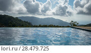 Купить «Swimming pool with mountains in background, Koh Samui, Surat Thani Province, Thailand», фото № 28479725, снято 9 декабря 2016 г. (c) Ingram Publishing / Фотобанк Лори