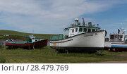 Купить «Fishing trawlers at harbor, Cabot Trail, Cape Breton Island, Nova Scotia, Canada», фото № 28479769, снято 12 июня 2016 г. (c) Ingram Publishing / Фотобанк Лори