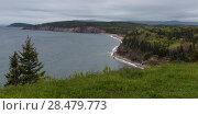 Купить «Scenic view of coastline, Ingonish, Cabot Trail, Cape Breton Island, Nova Scotia, Canada», фото № 28479773, снято 12 июня 2016 г. (c) Ingram Publishing / Фотобанк Лори