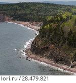 Купить «Scenic view of coastline, Ingonish, Cabot Trail, Cape Breton Island, Nova Scotia, Canada», фото № 28479821, снято 12 июня 2016 г. (c) Ingram Publishing / Фотобанк Лори