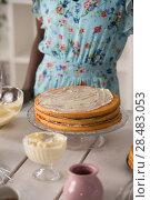 Купить «Unrecognizable Woman Cooking at home. Dessert Concept. Healthy Lifestyle. Cooking At Home. Prepare Food», фото № 28483053, снято 1 декабря 2014 г. (c) Ingram Publishing / Фотобанк Лори