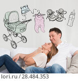 Купить «Newborn concept. Adult couple planning their baby», фото № 28484353, снято 31 марта 2013 г. (c) Ingram Publishing / Фотобанк Лори