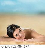 Купить «Long haired girl in bikini laying and tanning on tropical beach», фото № 28484677, снято 7 мая 2013 г. (c) Ingram Publishing / Фотобанк Лори
