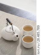 Купить «Tea set at comfortable lounge», фото № 28485789, снято 19 декабря 2012 г. (c) Ingram Publishing / Фотобанк Лори