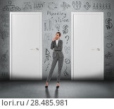 Купить «Concept of businesswoman planning her business strategy and choosing the right option», фото № 28485981, снято 2 февраля 2013 г. (c) Ingram Publishing / Фотобанк Лори