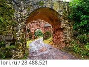 Купить «Burg Hohnstein ruins entrance arch in Harz Neustadt of Germany.», фото № 28488521, снято 12 июля 2017 г. (c) easy Fotostock / Фотобанк Лори