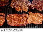 Купить «Beef meat barbecue grilled with embers and smoke american style», фото № 28492989, снято 23 марта 2019 г. (c) Ingram Publishing / Фотобанк Лори