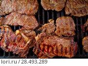 Купить «Beef meat barbecue grilled with embers and smoke american style», фото № 28493289, снято 23 марта 2019 г. (c) Ingram Publishing / Фотобанк Лори