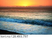Купить «Magic mystic sunset at seascape», фото № 28493797, снято 25 мая 2019 г. (c) Ingram Publishing / Фотобанк Лори