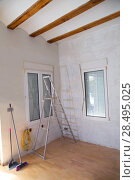 Купить «House indoor improvements plater tools and ladder in real situation», фото № 28495025, снято 19 января 2019 г. (c) Ingram Publishing / Фотобанк Лори
