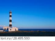 Купить «Menorca Cap de Artrutx Lighthouse in southwest cape at Balearic Islands», фото № 28495593, снято 29 мая 2013 г. (c) Ingram Publishing / Фотобанк Лори