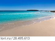 Купить «Menorca Platja de Binigaus beach Mediterranean paradise in Balearic islands», фото № 28495613, снято 30 мая 2013 г. (c) Ingram Publishing / Фотобанк Лори
