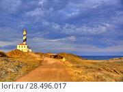 Купить «Cap de Favaritx sunset lighthouse cape in Mahon at Balearic Islands of Spain», фото № 28496017, снято 28 мая 2013 г. (c) Ingram Publishing / Фотобанк Лори