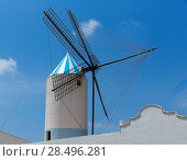 Купить «Menorca Sant Lluis San Luis Moli de Dalt windmill in Balearic islands of Spain», фото № 28496281, снято 28 мая 2013 г. (c) Ingram Publishing / Фотобанк Лори