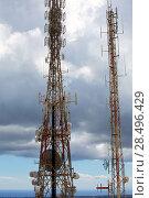 Купить «Telecommunications tower telephony repeaters in Menorca Pico del Toro», фото № 28496429, снято 30 мая 2013 г. (c) Ingram Publishing / Фотобанк Лори