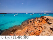 Купить «Formentera Cala Saona beach one of the best beaches in world near Ibiza», фото № 28496593, снято 16 августа 2018 г. (c) Ingram Publishing / Фотобанк Лори