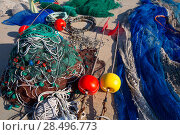 Купить «Formentera Balearic Islands fishing tackle nets longliner trawler trammel», фото № 28496773, снято 30 июня 2013 г. (c) Ingram Publishing / Фотобанк Лори