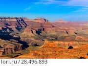 Купить «Arizona sunset Grand Canyon National Park Yavapai Point USA», фото № 28496893, снято 14 апреля 2013 г. (c) Ingram Publishing / Фотобанк Лори