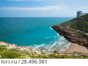 Купить «Cullera Cala beach near Faro in blue Mediterranean of spain», фото № 28496981, снято 10 сентября 2013 г. (c) Ingram Publishing / Фотобанк Лори
