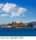 Купить «Alcatraz island penitentiary in San Francisco Bay California USA view from Pier 39», фото № 28497325, снято 20 апреля 2013 г. (c) Ingram Publishing / Фотобанк Лори