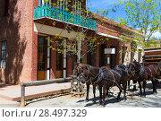 California Columbia a real old Western Gold Rush Town in USA (2013 год). Стоковое фото, фотограф Tono Balaguer / Ingram Publishing / Фотобанк Лори