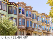 Купить «San Francisco Victorian houses near Washington Square California USA», фото № 28497681, снято 20 апреля 2013 г. (c) Ingram Publishing / Фотобанк Лори