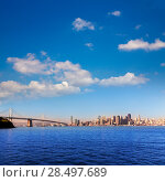 San Francisco skyline in California from Treasure Island USA (2013 год). Стоковое фото, фотограф Tono Balaguer / Ingram Publishing / Фотобанк Лори