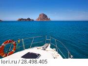 Купить «Boating in Ibiza with Es Vedra y Vedranell islands in balearic Mediterranean», фото № 28498405, снято 6 июня 2013 г. (c) Ingram Publishing / Фотобанк Лори