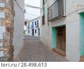 Ain village in Castellon whitewashed facades at Valencian community spain (2007 год). Стоковое фото, фотограф Tono Balaguer / Ingram Publishing / Фотобанк Лори