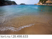 Купить «Ibiza Port de Sant Miquel San Miguel beach in Balearic islands Spain», фото № 28498633, снято 7 июня 2013 г. (c) Ingram Publishing / Фотобанк Лори
