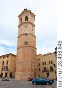 Купить «Castellon el Fadri belfry tower in Plaza Mayor square at Valencia community Spain», фото № 28498845, снято 19 октября 2019 г. (c) Ingram Publishing / Фотобанк Лори