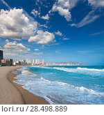 Купить «Benidorm Alicante beach buildings and Mediterranean sea of Spain», фото № 28498889, снято 24 февраля 2019 г. (c) Ingram Publishing / Фотобанк Лори