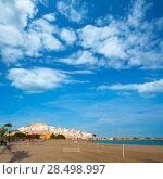 Купить «Peniscola Castle and beach in Castellon Valencian community of spain», фото № 28498997, снято 18 января 2019 г. (c) Ingram Publishing / Фотобанк Лори