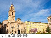 Valencia santa Monica Plaza square with church el Salvador in Spain. Стоковое фото, фотограф Tono Balaguer / Ingram Publishing / Фотобанк Лори