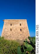 Купить «Tabarca island tower Torre de San Jose was a prision and castle in Alicante Spain», фото № 28499165, снято 4 октября 2008 г. (c) Ingram Publishing / Фотобанк Лори