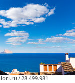 Купить «Altea old village in white whitewashed typical Mediterranean at Alicante Spain», фото № 28499981, снято 23 января 2014 г. (c) Ingram Publishing / Фотобанк Лори
