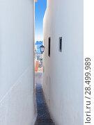 Купить «Altea old village white narrow street typical Mediterranean at Alicante Spain», фото № 28499989, снято 23 января 2014 г. (c) Ingram Publishing / Фотобанк Лори