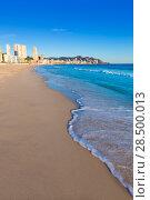 Купить «Benidorm Alicante playa de Poniente beach in spain Valencian community», фото № 28500013, снято 21 января 2014 г. (c) Ingram Publishing / Фотобанк Лори
