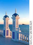 Купить «Benidorm sunset Alicante Balcon Mediterraneo in Spain Valencian community», фото № 28500021, снято 21 января 2014 г. (c) Ingram Publishing / Фотобанк Лори