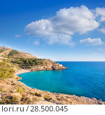 Benidorm Alicante cala Ti Ximo beach in Blue Mediterranean Spain (2014 год). Стоковое фото, фотограф Tono Balaguer / Ingram Publishing / Фотобанк Лори