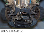 Купить «Car underbody  front enginee wheels drives suspension radiator of used car», фото № 28500121, снято 26 октября 2013 г. (c) Ingram Publishing / Фотобанк Лори