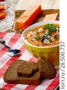 Купить «Homemade Thanksgiving Rustic Pumpkin Soup puree in ceramic Bowl», фото № 28500737, снято 5 июля 2020 г. (c) Ingram Publishing / Фотобанк Лори