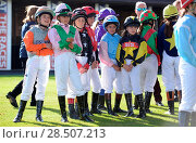 Купить «Pictured this afternoon - 17/10/16 Forget about the Grand National – the biggest horse-racing event on the calendar in Sussex starred junior jockeys racing...», фото № 28507213, снято 17 октября 2016 г. (c) age Fotostock / Фотобанк Лори