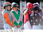 Купить «Pictured this afternoon - 17/10/16 Forget about the Grand National – the biggest horse-racing event on the calendar in Sussex starred junior jockeys racing...», фото № 28507473, снято 17 октября 2016 г. (c) age Fotostock / Фотобанк Лори