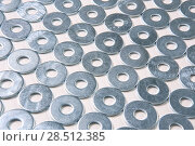 Купить «Metal chrome-plated background», фото № 28512385, снято 10 февраля 2015 г. (c) Юрий Бизгаймер / Фотобанк Лори